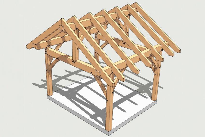 Kaip pastatyti šlaitinį stogą?
